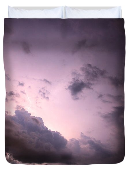 Night Storm Duvet Cover by Amanda Barcon