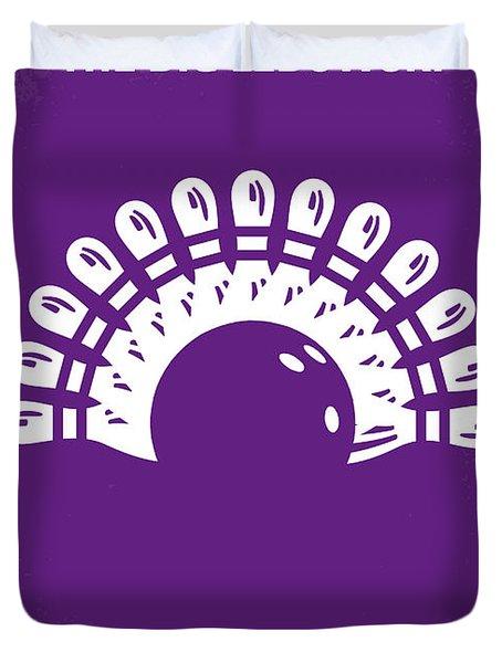 No010 My Big Lebowski minimal movie poster Duvet Cover by Chungkong Art