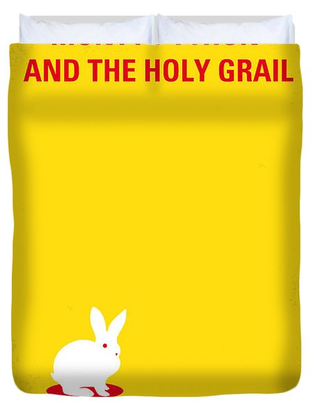 No036 My Monty Python And The Holy Grail Minimal Movie Poster Duvet Cover by Chungkong Art