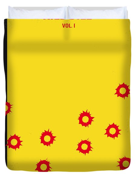 No048 My Kill Bill -part 1 Minimal Movie Poster Duvet Cover by Chungkong Art