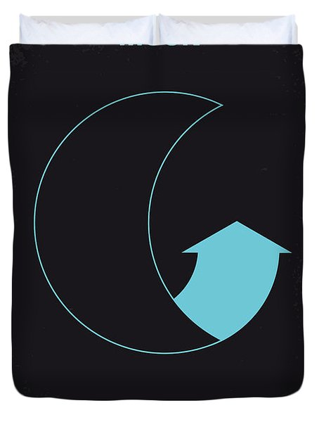 No053 My Moon 2009 minimal movie poster Duvet Cover by Chungkong Art