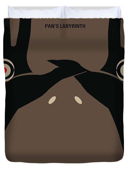 No061 My Pans Labyrinth minimal movie poster Duvet Cover by Chungkong Art