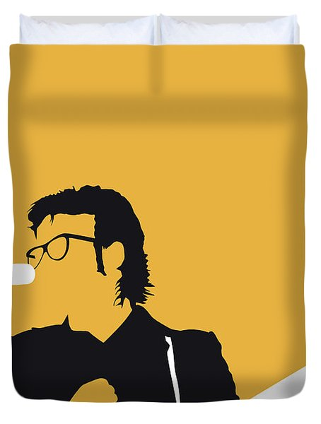 No067 My Elvis Costello Minimal Music Poster Duvet Cover by Chungkong Art