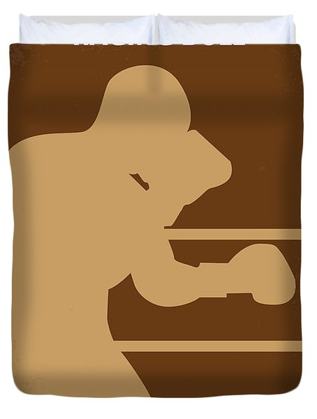 No174 My Raging Bull minimal movie poster Duvet Cover by Chungkong Art