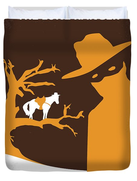 No202 My The Lone Ranger Minimal Movie Poster Duvet Cover by Chungkong Art