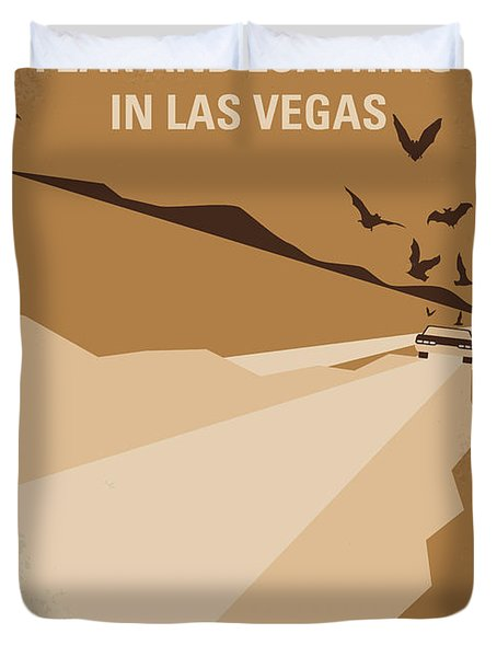 No293 My Fear And Loathing Las Vegas Minimal Movie Poster Duvet Cover by Chungkong Art