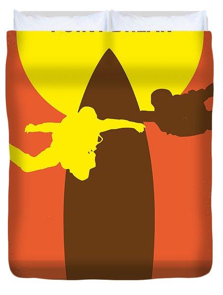 No455 My Point Break Minimal Movie Poster Duvet Cover by Chungkong Art