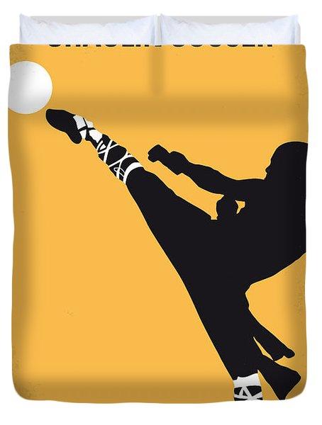 No480 My Shaolin Soccer Minimal Movie Poster Duvet Cover by Chungkong Art