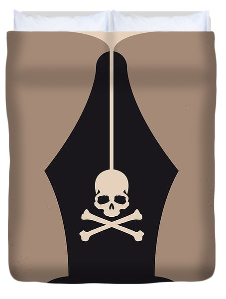 No486 My Dead Poets Society Minimal Movie Poster Duvet Cover by Chungkong Art