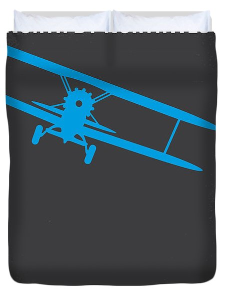No535 My North By Northwest Minimal Movie Poster Duvet Cover by Chungkong Art