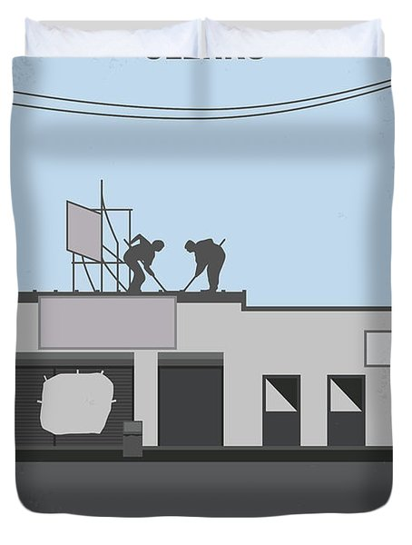 No715 My Clerks Minimal Movie Poster Duvet Cover by Chungkong Art