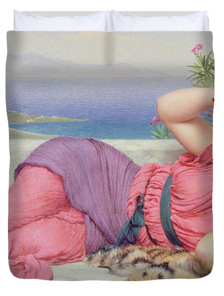 Noon Day Rest Duvet Cover by John William Godward