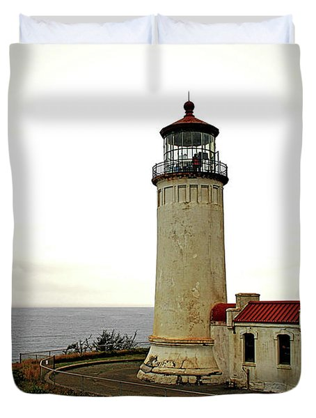 North Head Lighthouse - Graveyard Of The Pacific - Ilwaco Wa Duvet Cover by Christine Till