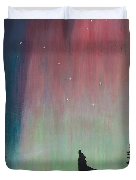 Northern Lights Stardust Duvet Cover by Jackie Novak