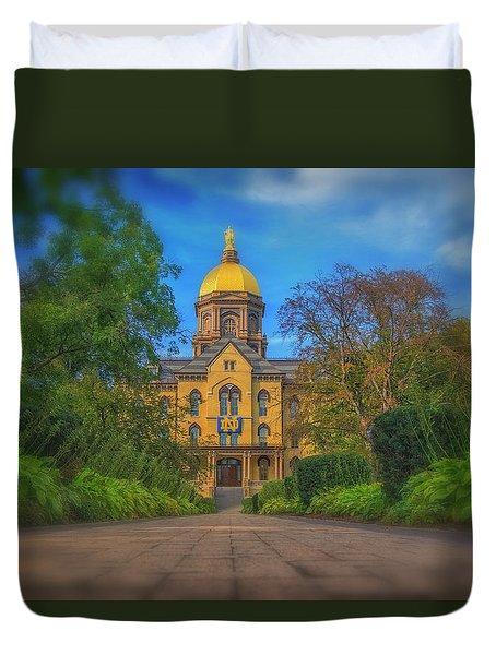 Notre Dame University Q2 Duvet Cover by David Haskett