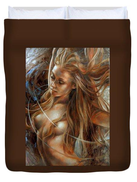 Nude Dinamik2 Duvet Cover by Arthur Braginsky