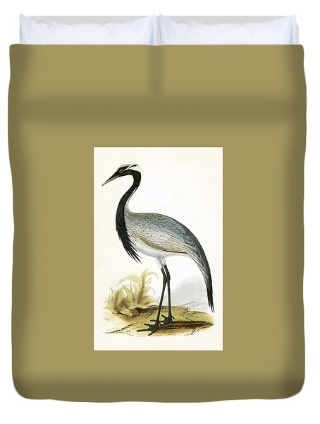 Numidian Crane Duvet Cover by English School