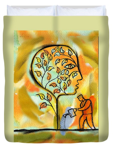 Nurturing And Caring Duvet Cover by Leon Zernitsky
