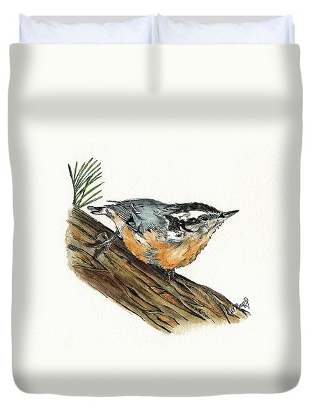 Nuthatch Duvet Cover by Shari Nees