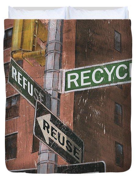 NYC Broadway 1 Duvet Cover by Debbie DeWitt