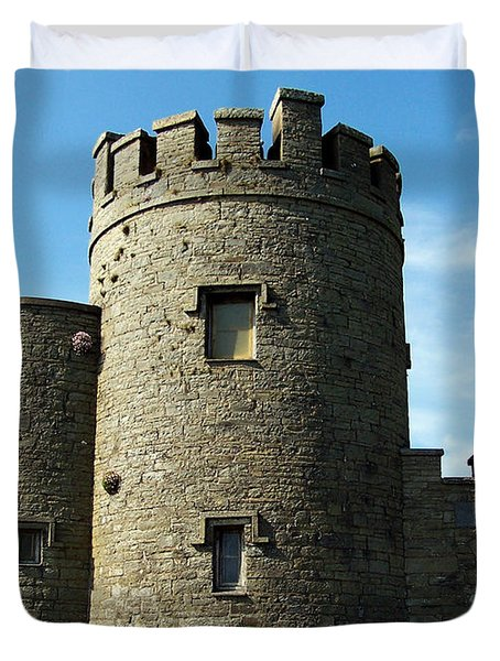 O Brien's Tower Cliffs of Moher Ireland Duvet Cover by Teresa Mucha