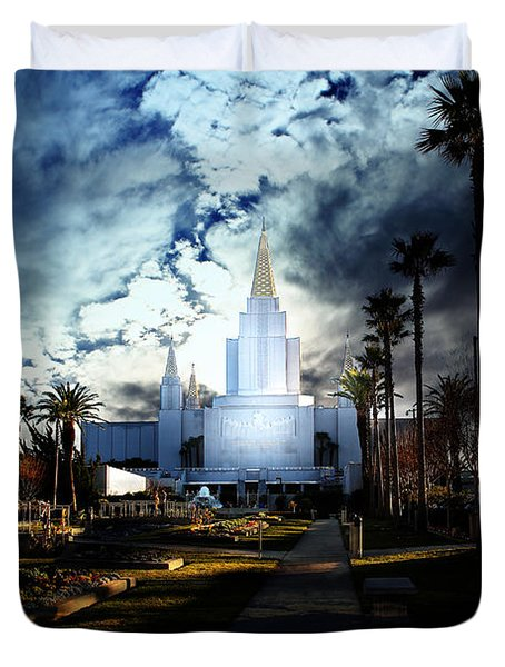 Oakland California Temple . The Church of Jesus Christ of Latter-Day Saints Duvet Cover by Wingsdomain Art and Photography