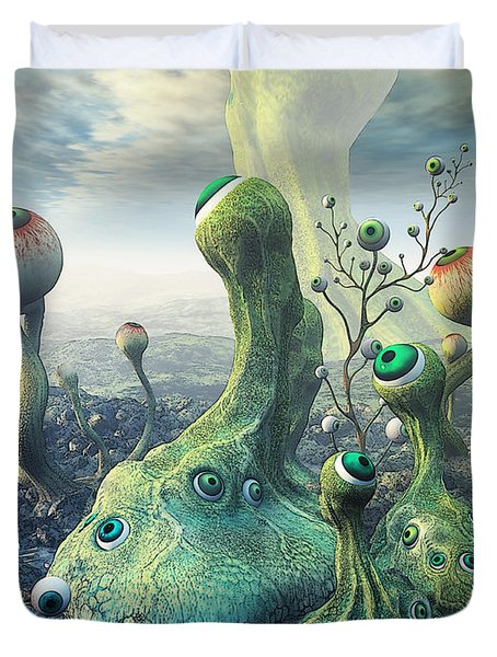 Observation Duvet Cover by Jutta Maria Pusl