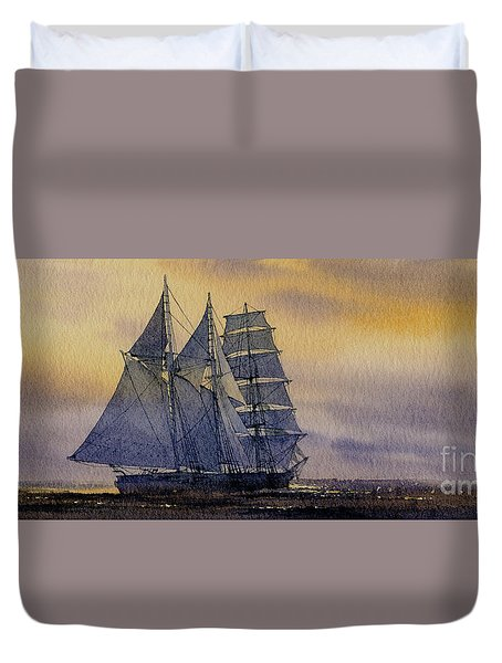 Ocean Dawn Duvet Cover by James Williamson