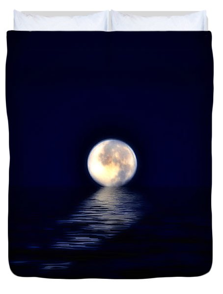 Ocean Moon Duvet Cover by Bill Cannon
