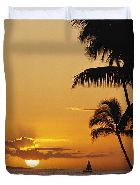 Ocean Sunset Duvet Cover by Erik Aeder - Printscapes