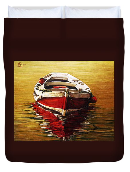 Ocre S Sea Duvet Cover by Natalia Tejera