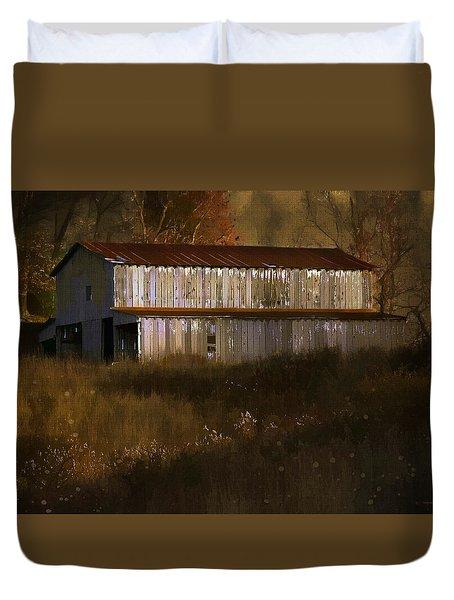 October Barn Duvet Cover by Ron Jones