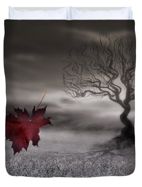 October Fades Duvet Cover by Gray  Artus