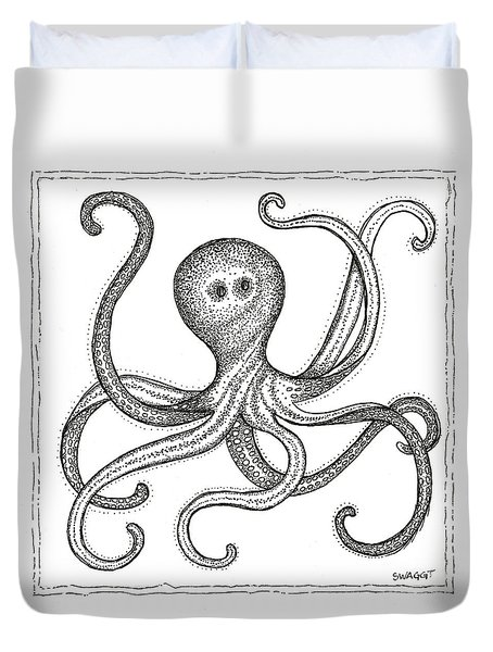 Octopus Duvet Cover by Stephanie Troxell