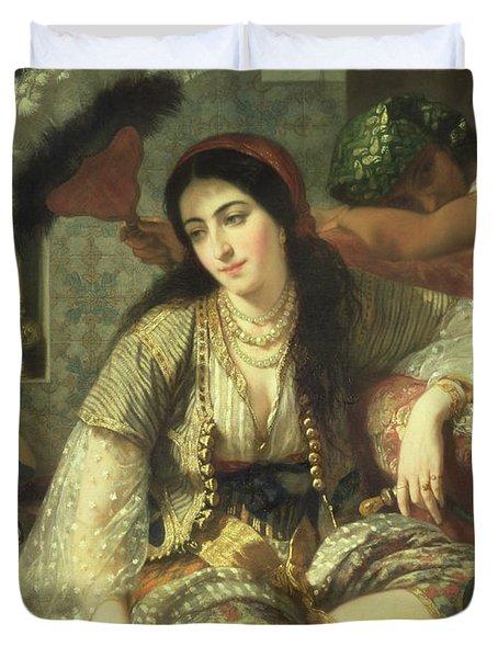 Odalisque Duvet Cover by Jean Baptiste Ange Tissier