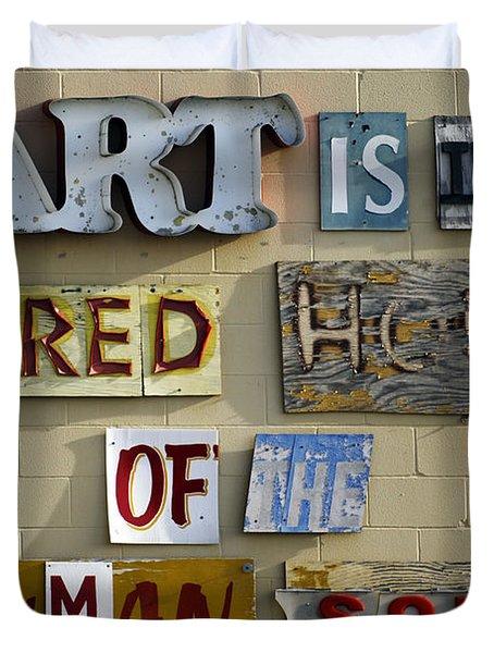 Ode To Art Duvet Cover by Jill Reger