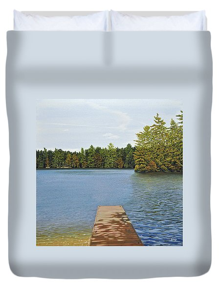 Off The Dock Duvet Cover by Kenneth M  Kirsch