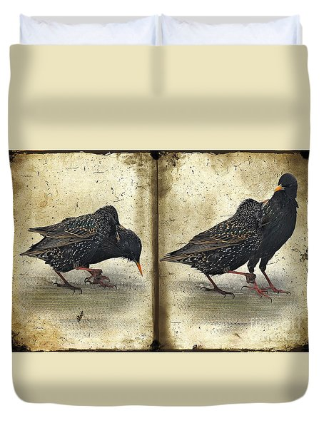 Oh No You Didn't Duvet Cover by Lois Bryan