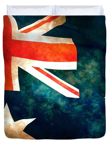 Old Australian Flag Duvet Cover by Phill Petrovic