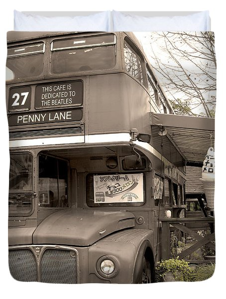 Old Bus Cafe Duvet Cover by Eena Bo