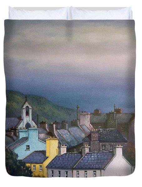 Old Copper Mining Town Duvet Cover by Sean Conlon