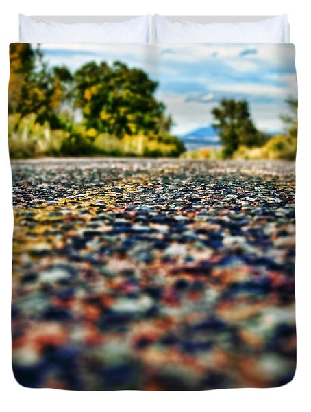 Old Country Road Duvet Cover by Ray Laskowitz - Printscapes