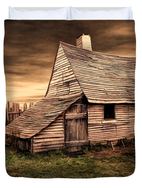 Old English Barn Duvet Cover by Lourry Legarde