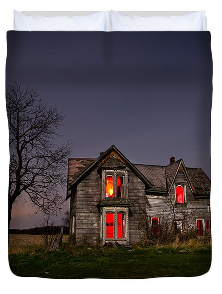 Old Farm House Duvet Cover by Cale Best