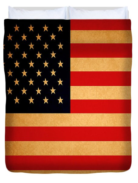 Old Glory . Square Duvet Cover by Wingsdomain Art and Photography