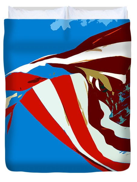 Old Glory Flying Duvet Cover by David Lee Thompson