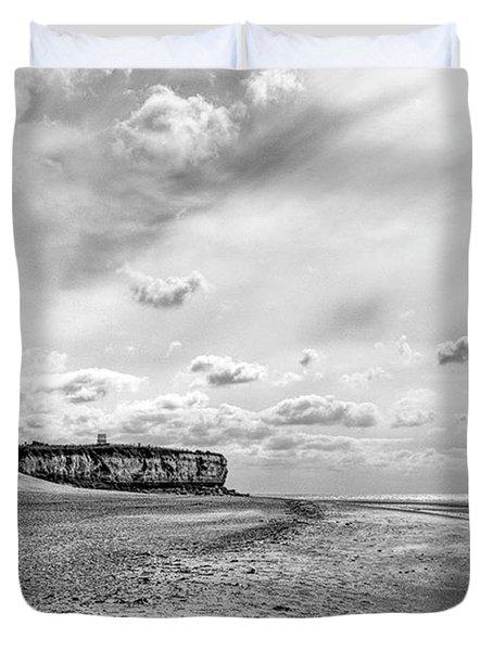 Old Hunstanton Beach, Norfolk Duvet Cover by John Edwards