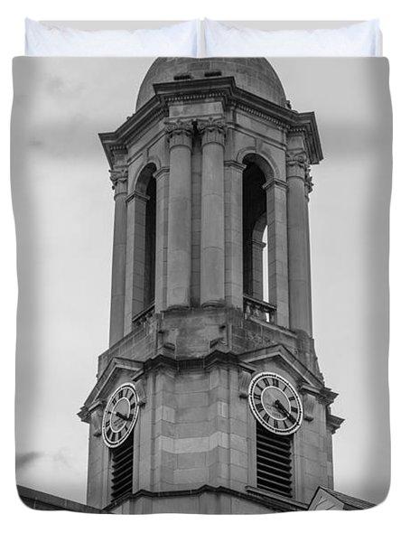 Old Main Tower Penn State Duvet Cover by John McGraw