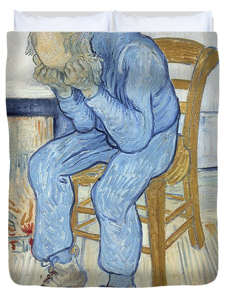 Old Man In Sorrow Duvet Cover by Vincent van Gogh