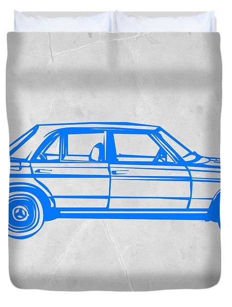 Old Mercedes Benz Duvet Cover by Naxart Studio